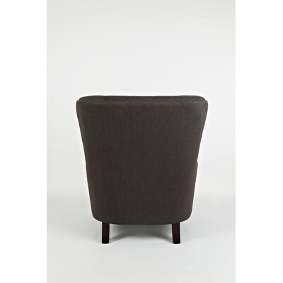 Gaines Wingback Chair Upholstery: Charcoal