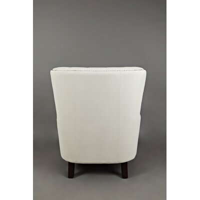 Gaines Wingback Chair Upholstery: Ivory