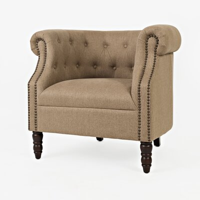 Chesterfield Chair Upholstery: Chestnut