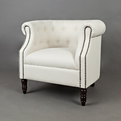 Chesterfield Chair Upholstery: Ivory