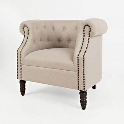 Chesterfield Chair Upholstery: Taupe