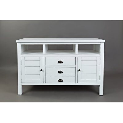 Arviso 50 Entertainment Center Color: Weathered White