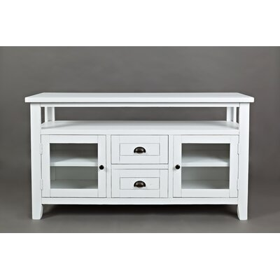 Arviso 54 TV Stand Color: Weathered White