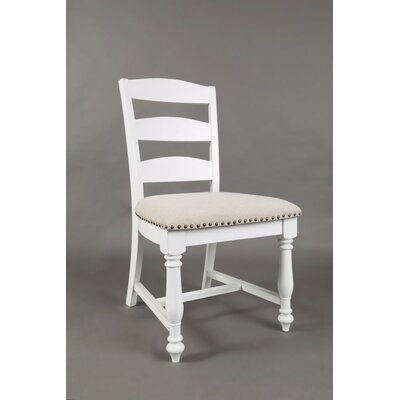 Bluebonnet Ladder Upholstered Dining Chair (Set of 2) Finish: Antique White