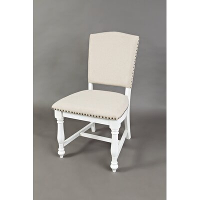 Bluebonnet Upholstered Dining Chair (Set of 2) Finish: Antique White