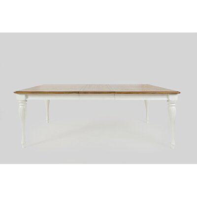 Bluebonnet Traditional Extendable Dining Table Base Color: Antique White