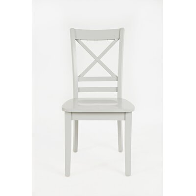 Coddington Solid Wood Dining Chair (Set of 2) Color: Dove