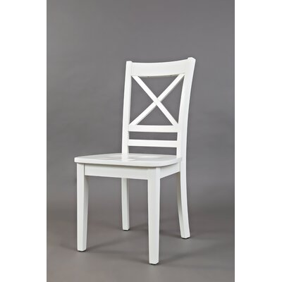 Coddington Solid Wood Dining Chair (Set of 2) Color: Paperwhite