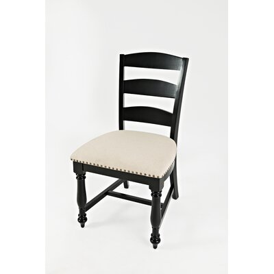 Bluebonnet Ladder Upholstered Dining Chair (Set of 2) Finish: Antique Black