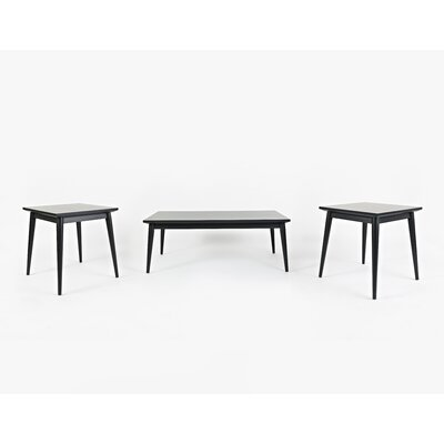Monica 3 Piece Coffee Table Set Color: Dark Charcoal