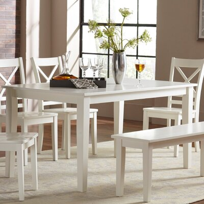 Antrim Dining Table Color: Paperwhite, Size: 36 H x 32 W x 54 D