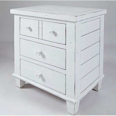 Ginns 3 Drawer Nightstand