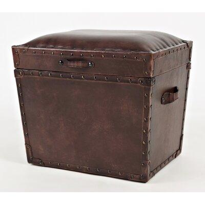Carroll Storage Leather Ottoman