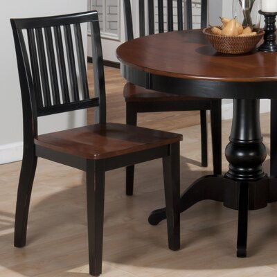 Low Price Jofran Madison County Side Chair (Set of 2) Finish: Antique Charcoal / Concord Brown