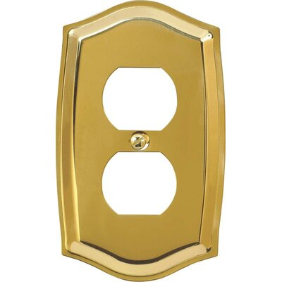 Duplex Socket Plate Finish: Polished Brass