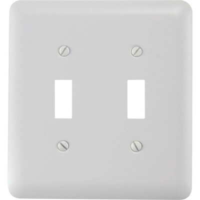 2-Toggle Socket Plate Finish: White