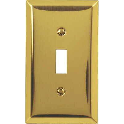 Toggle Socket Plate Finish: Brushed Brass