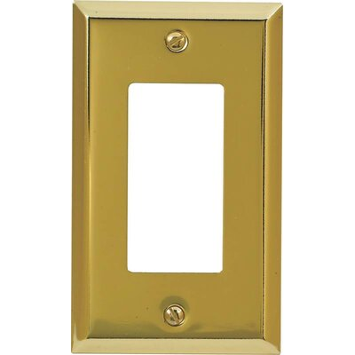 Rocker Socket Plate Finish: Brushed Brass
