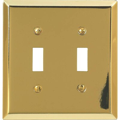 2-Toggle Socket Plate Finish: Brushed Brass