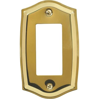 Rocker Socket Plate Finish: Polished Brass