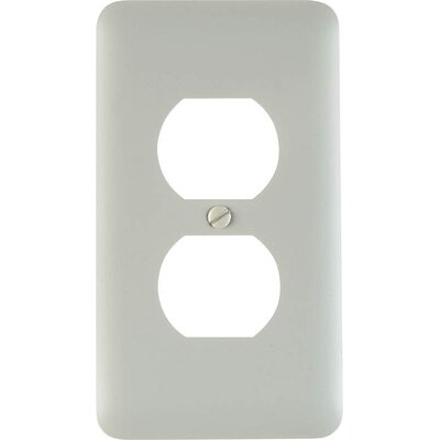 Duplex Socket Plate Finish: White