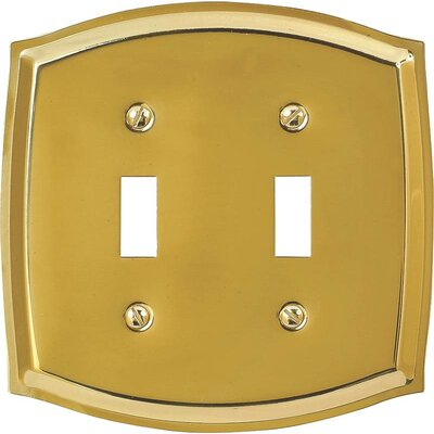 2-Toggle Socket Plate Finish: Polished Brass