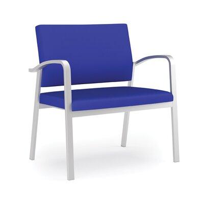 Newport Bariatric Guest Chair Fabric: Renaissance Steel Blue - Healthcare Vinyl, Frame Color: Silver