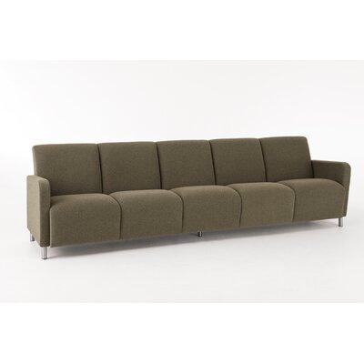 Lesro Ravenna Series Sofa - Color: Interval Graphite Fabric, Finish: Mahogany at Sears.com