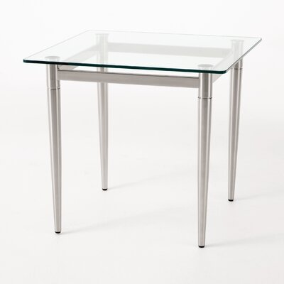 Ravenna Series End Table Finish: Brushed Steel