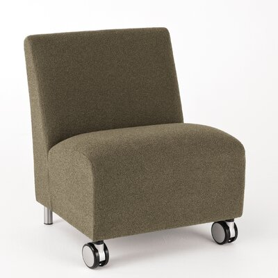 Lesro Ravenna Series Lounge Chair with Casters - Finish: Natural Casters/Glides: Included Material: Renaissance - Steel Blue