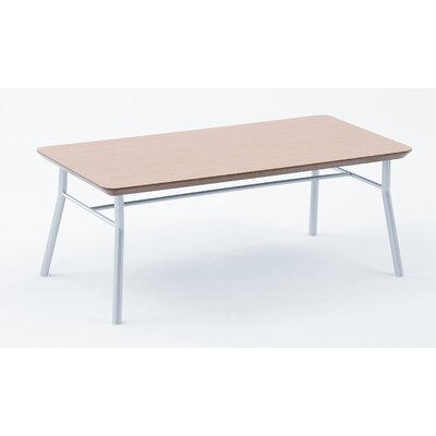 Mystic Series Coffee Table Color: Natural Top / Silver