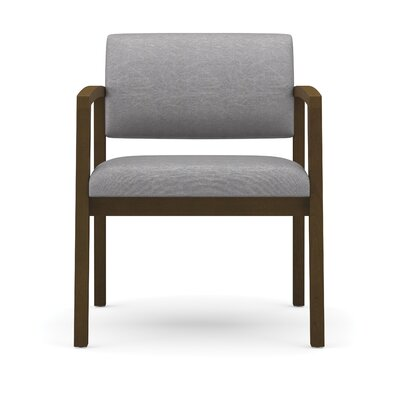 Lesro Lenox Oversize Guest Chair - Fabric: Renaissance - Steel Blue, Frame Finish: Cherry