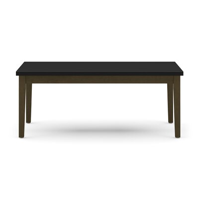 Lenox Coffee Table with Black Melamine Top Frame Color: Walnut