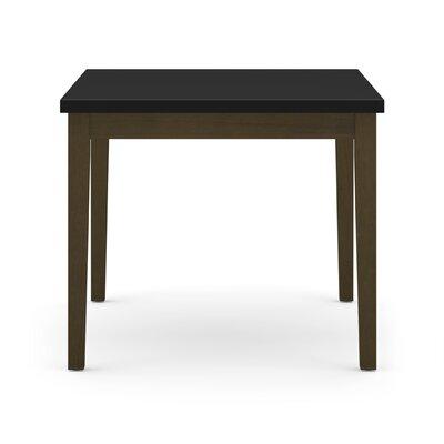 Lenox Corner Table with Black Melamine Top Frame Color: Walnut