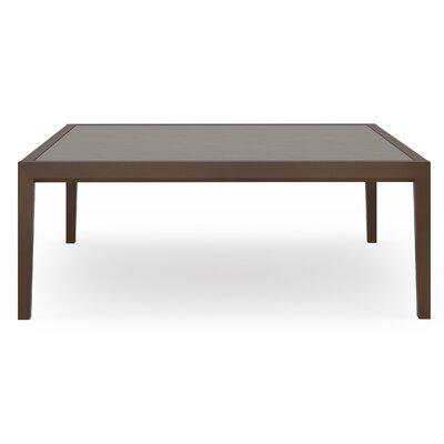 Brooklyn Coffee Table Size: 42 W x 42 D, Base Finish: Medium, Top Finish: Sarum Twill