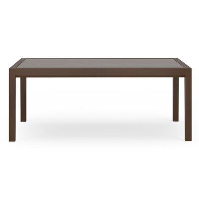 Brooklyn Coffee Table Base Color: Mahogany, Top Color: Sarum Twill