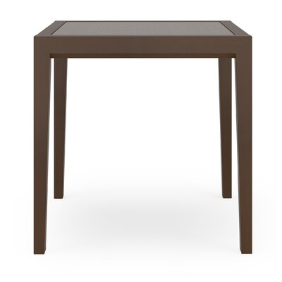 Brooklyn Earthen Twill End Table Frame Color: Mahogany