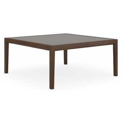 Brooklyn Coffee Table Top Finish: Sarum Twill, Base Finish: Walnut, Size: 36 W x 36 D