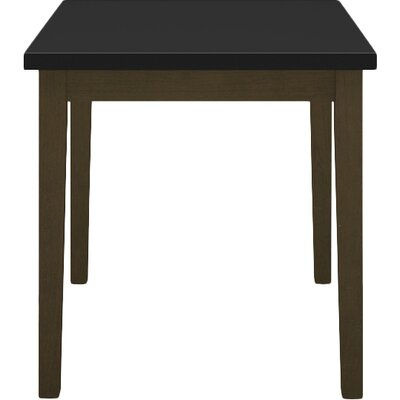 Lenox End Table with Black Melamine Top Frame Color: Walnut
