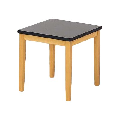 Lenox End Table with Black Melamine Top Frame Color: Medium