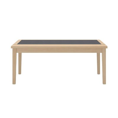 Savoy Series Coffee Table Base Finish: Mahogany, Top Finish: Gray Matrix