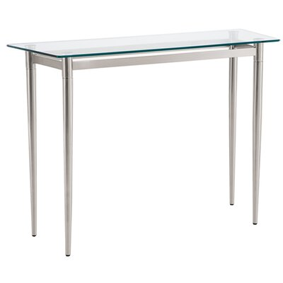 Ravenna Series Console Table Finish: Brushed Steel