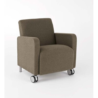 Ravenna Guest Chair Upholstery: Axis Denim, Casters/Glides: With Casters