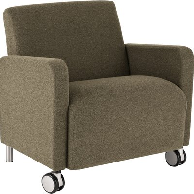 Ravenna Series Lounge Chair Upholstery: Renaissance Wineberry, Casters/Glides: With Casters