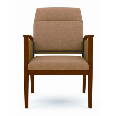 Amherst Motion Extended Back Chair with Open Arm Frame Finish: Mahogany, Fabric: Tendril - Tapioca