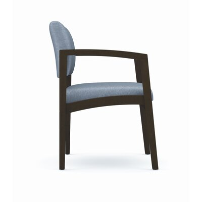Lesro Lenox Armless Guest Chair - Fabric: Essex - Navy, Frame Finish: Natural, Arms: Included at Sears.com