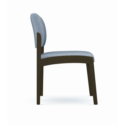 Lesro Lenox Armless Guest Chair - Frame Finish: Walnut, Arms: Not Included, Fabric: Axis - Paprika
