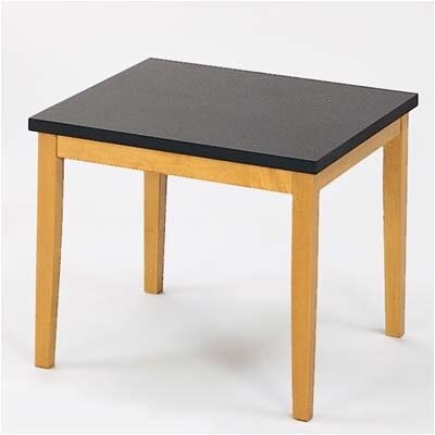 Lenox Corner Table with Black Melamine Top Frame Color: Natural