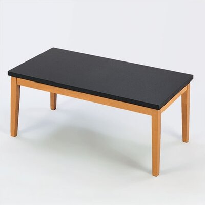Lenox Coffee Table with Black Melamine Top Frame Color: Cherry