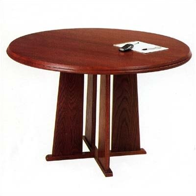 Contemporary Series Circular Conference Table Finish: Mahogany, Size: 4 L, Profile: Radius